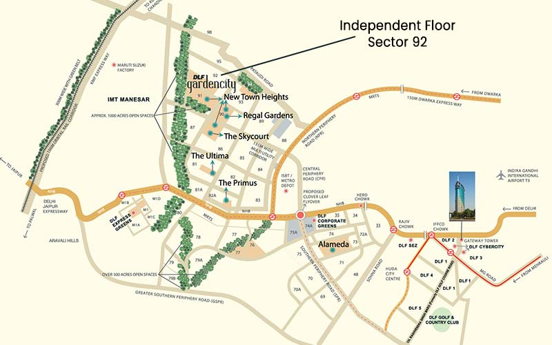 Dlf Independent Floors Sector 92 Independent Floors In Gurgaon